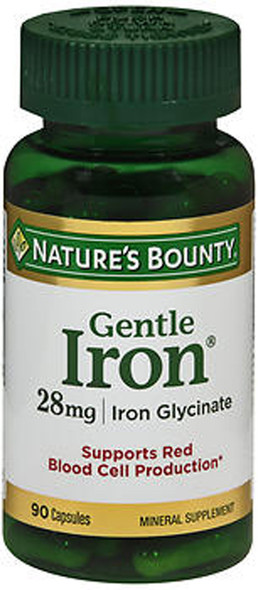 Nature's Bounty Gentle Iron 28 mg - 90 Capsules