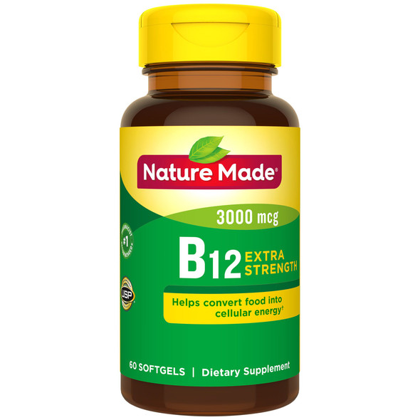 Nature Made B-12 Vitamin 3000 mcg - 60 Liquid Softgels