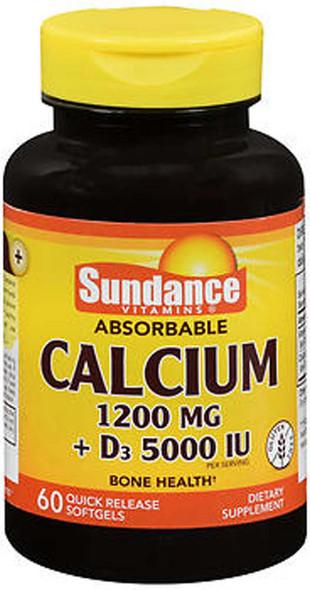 Sundance Vitamins Absorbable Calcium 1200 mg + D3 5000 IU - 60 Softgels