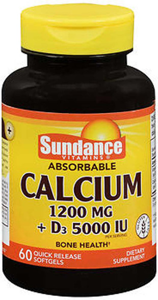 Sundance Vitamins Absorbable Calcium 1200 mg + D3 5000 IU - 60 Softgels