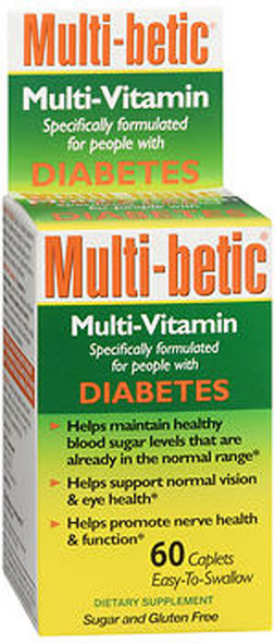 Multi-betic Diabetes Multivitamin/Mineral Supplement, Caplets- 60 ct