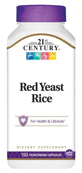21st Century Red Yeast Rice Supplement, 150 Veggie Caps
