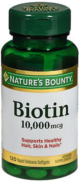 Nature's Bounty Biotin 10000 mcg Ultra Strength - 120 Softgels