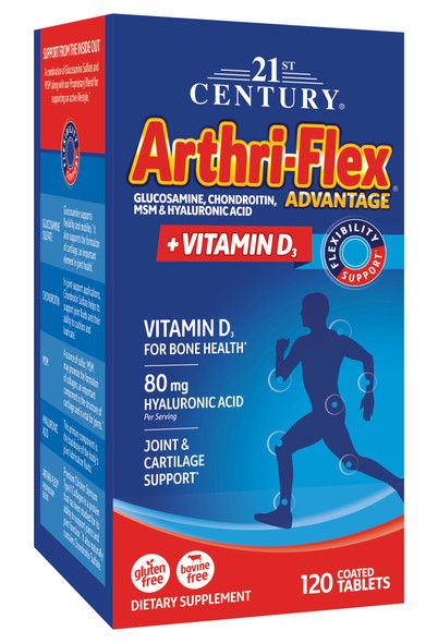 Arthri-Flex Advantage + Vitamin D3 Tablets - 120 ct
