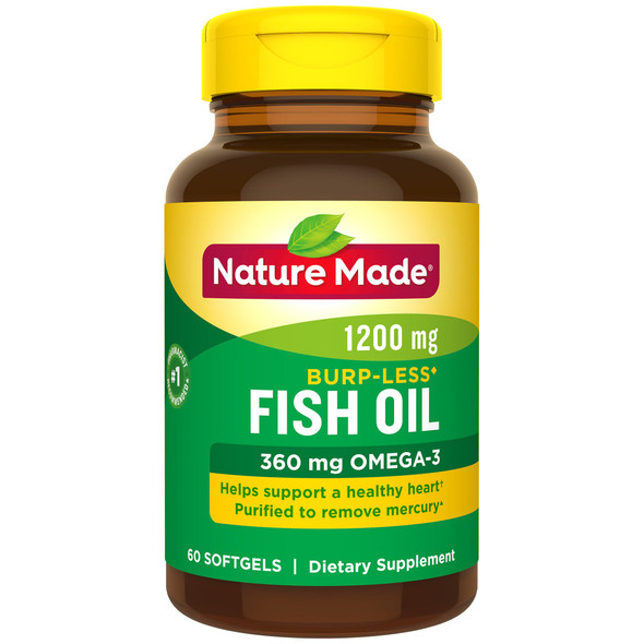 Nature Made Fish Oil 1200 mg Odorless Softgels - 60 ct