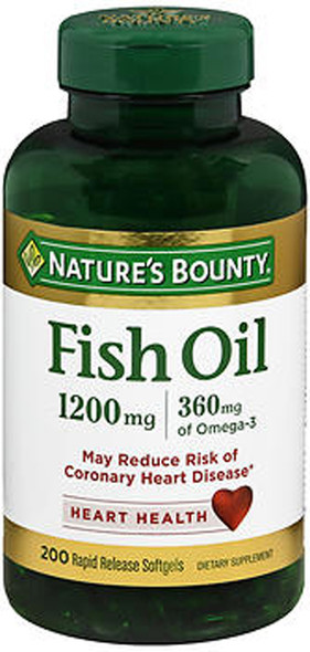 Nature's Bounty Fish Oil 1200 mg - 180 Softgels