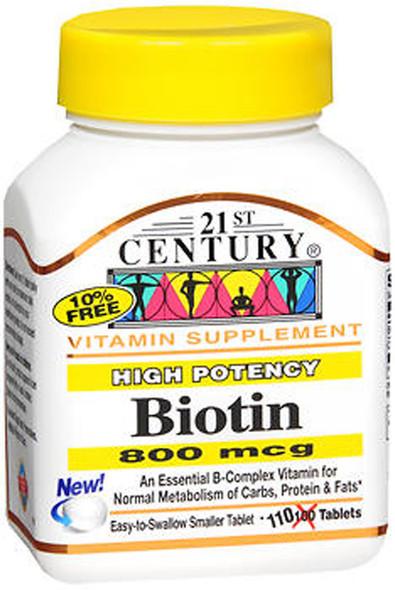 21st Century Biotin 800 mcg - 110 Tablets