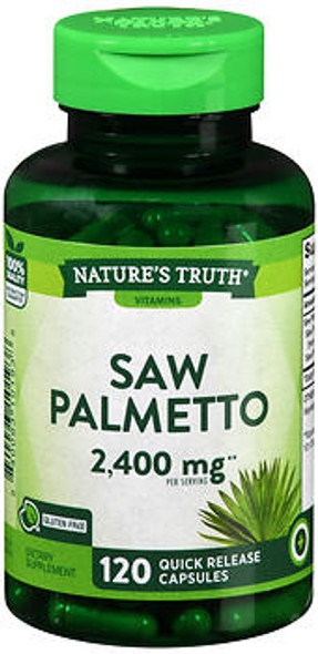 Nature's Truth Saw Palmetto 1200 mg Quick Release Capsules - 120 Capsules