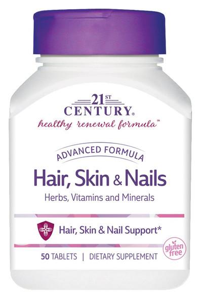 21st Century Hair, Skin & Nails - 50 Caplets