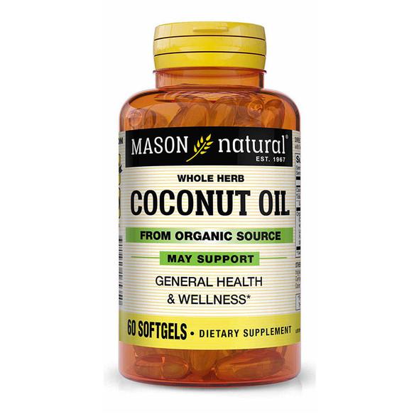 Mason Natural Organic Coconut Oil 1000 mg Softgels - 60 ct