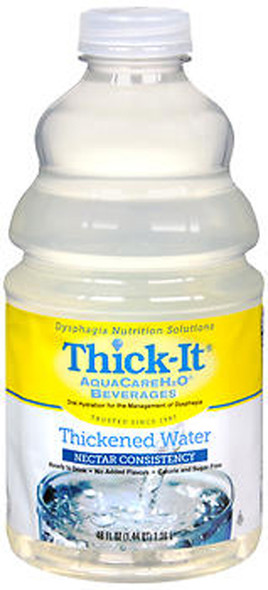 Thick-It AquaCare H2O Beverage Thickened Water Nectar Consistency - 46 oz