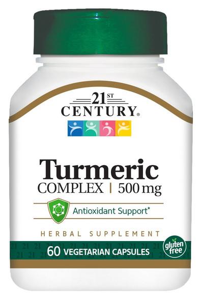 21st Century Turmeric Complex 500 mg - 60 Vegetarian Capsules