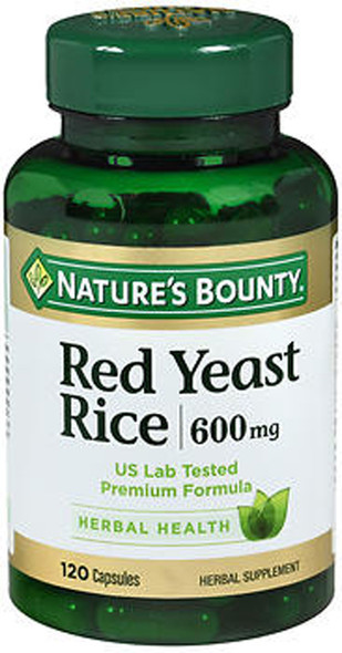 Nature's Bounty Red Yeast Rice 600 mg Herbal Supplement Capsules - 120 ct