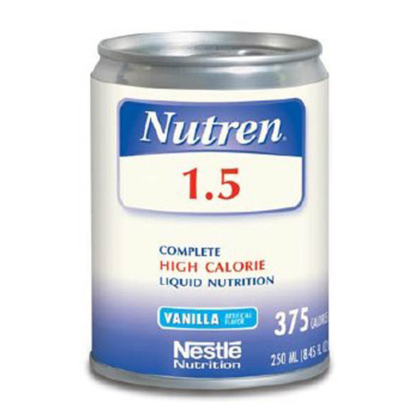 Nutren 1.5 Complete High Calorie Liquid Nutrition, Vanilla, 24-8.45 oz