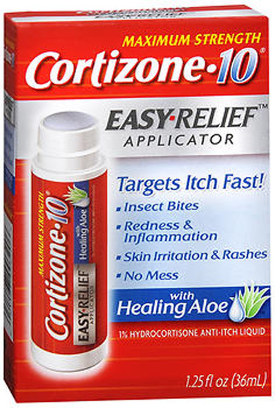 Maximum Strength Cortizone-10 Easy Relief Applicator Anti-Itch Liquid - 1.25 oz