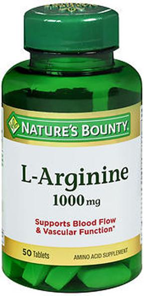 Nature's Bounty L-Arginine 1000 mg Amino Acid Supplement Tablets - 50 ct