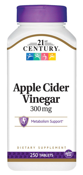 21st Century Apple Cider Vinegar 300 mg - 250 Tablets
