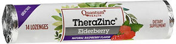 Quantum Health Thera Zinc Elderberry Lozenges Natural Raspberry Flavor - 12 packs of 14 each