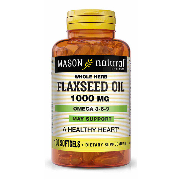 Mason Vitamins Flax Seed Oil 1000mg - 100 Softgels