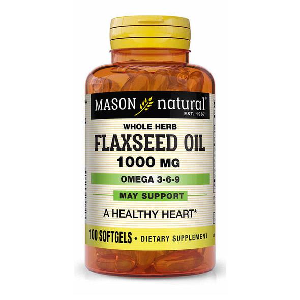 Mason Vitamins Flax Seed Oil 1000mg - 100 Softgels