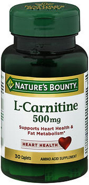 Nature's Bounty L-Carnitine 500 mg Caplets - 30 ct