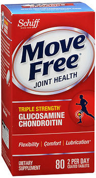 Schiff Move Free Tablets Triple Strength - 80 Coated Tablets