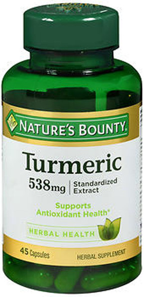 Nature's Bounty Turmeric 538 mg Herbal Supplement - 45 Capsules