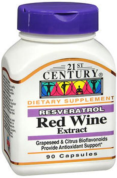 21st Century Resveratrol Red Wine Extract Capsules - 90 ct