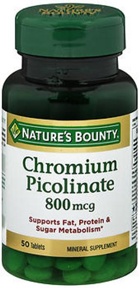 Nature's Bounty Mega Chromium Picolinate 800 mcg - 50 Tablets