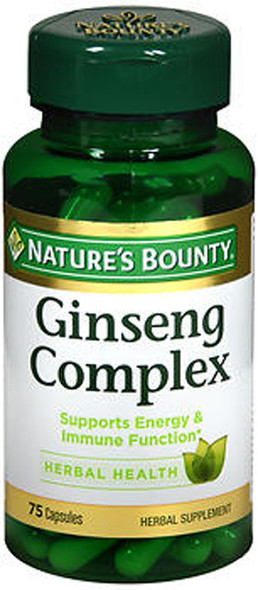 Nature's Bounty Ginseng Complex Plus Royal Jelly Capsules - 75 ct