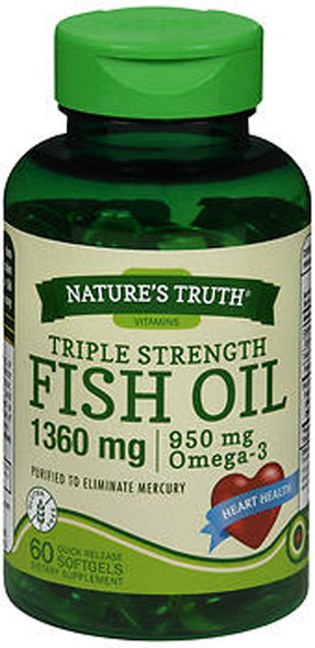 Nature's Truth Fish Oil 1360 mg Dietary Supplement - 60 Softgels