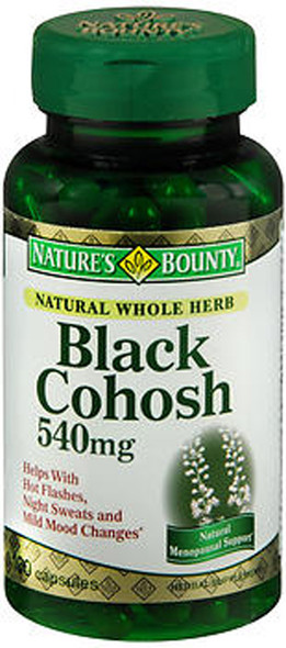 Nature's Bounty Black Cohosh 540mg - 100 Capsules