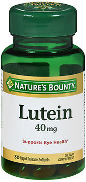 Nature's Bounty Lutein 40 mg Dietary Supplement Softgels - 30 ct