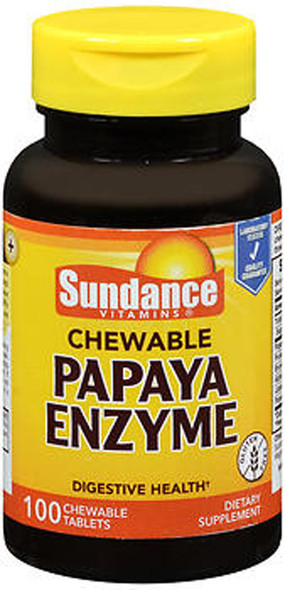 Sundance Chewable Papaya Enzyme - 100 Tablets