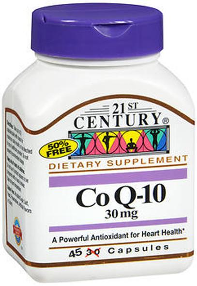 21st Century Co Q10 30 mg - 45 Capsules