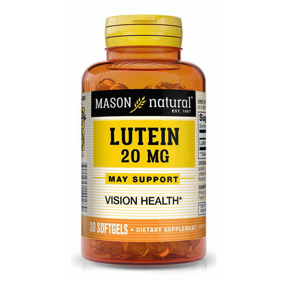 Mason Vitamins Natural Lutein 20 mg Softgels Extra Strength - 30ct