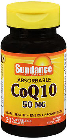 Sundance Vitamins Absorbable CoQ10 50mg - 30 Capsules