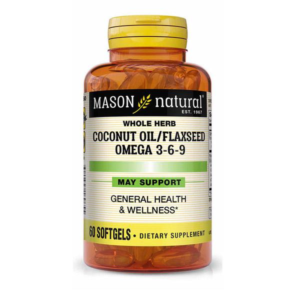 Mason Natural Coconut Oil/Flax Seed Omega 3-6-9 Softgels - 60 Softgels