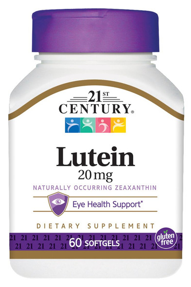 21st Century Lutein 20 mg Softgels - 60 ct
