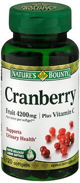 Nature's Bounty Cranberry 4200 mg plus Vitamin C - 120 Softgels