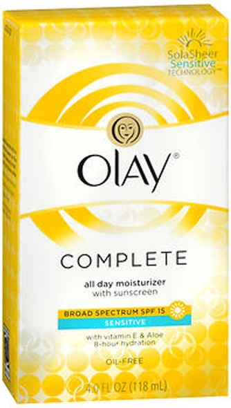 Olay Complete All Day Moisturizer with Sunscreen SPF 15 Sensitive - 4 oz