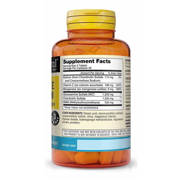 Mason Natural Flexi Joint Glucosamine Chondroitin Plus MSM 500, Tablets - 90ct