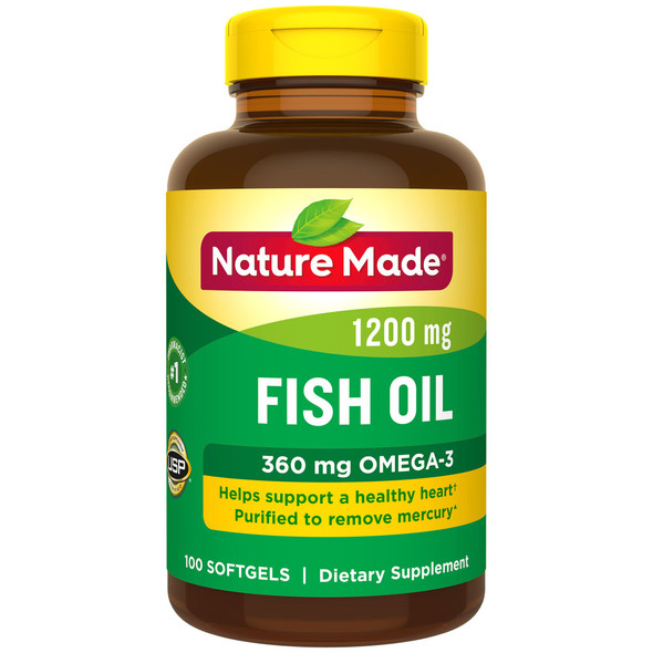 Nature Made Fish Oil 1200 mg Softgels - 100ct