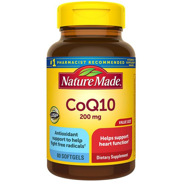 Nature Made CoQ10 200 mg - 80 Liquid Softgels