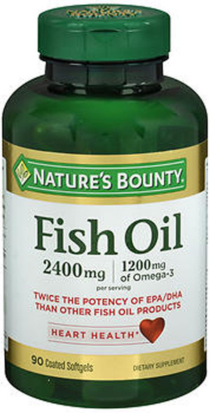 Nature's Bounty Fish Oil 2400 mg Dietary Supplement - 90 Softgels