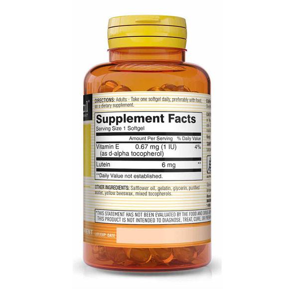 Mason Vitamins Natural Lutein 6 mg Softgels - 60 ct