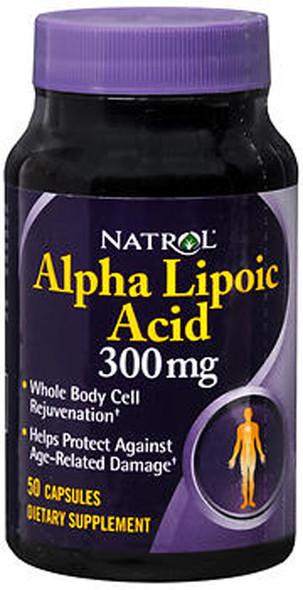 Natrol Alpha Lipoic Acid 300 mg- 50 Capsules