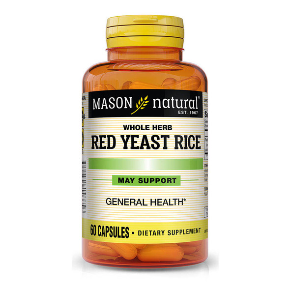 Mason Natural Red Yeast Rice Capsules - 60ct