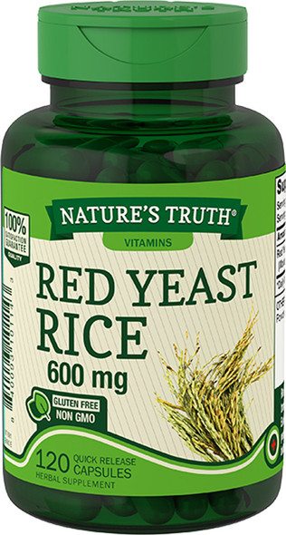 Nature's Truth Red Yeast Rice 600 mg Quick Release Capsules - 120 ct