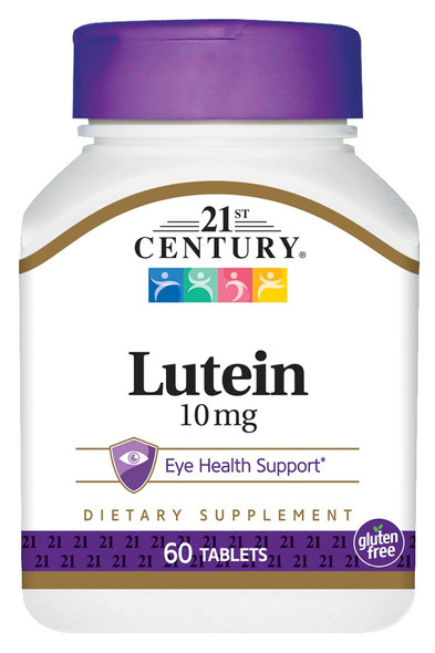 21st Century Lutein 10 mg - 60 Tablets
